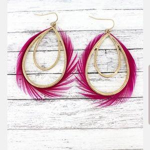 Fuschia Teardrop Earrings